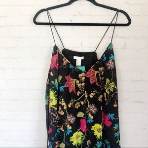 [H&M] NWT black floral dress with tassels size 12